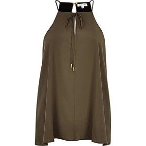 Khaki bow cami