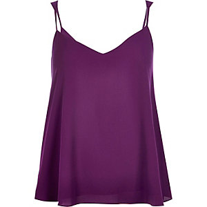 Purple V-neck cami top