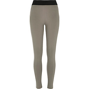 Grey high waisted leggings