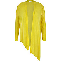 Yellow asymmetric slouchy cardigan