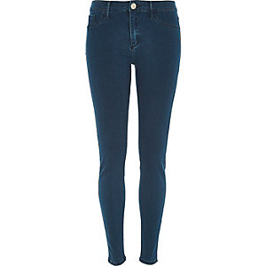Mid wash petrol blue Molly jeggings