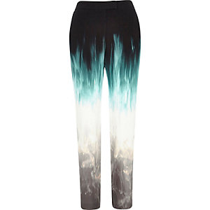 Black Design Forum faded cigarette trousers