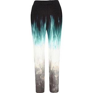 Black Design Forum faded skinny trousers
