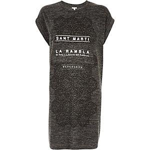 Grey La Rambla oversized t-shirt