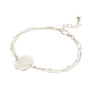 Silver tone filigree bracelet