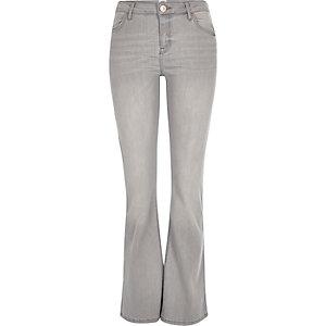 Light grey Brooke flare jeans