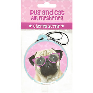 Pug and cat cherry scent air freshener
