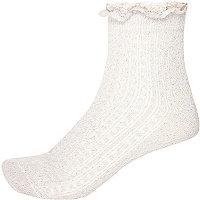 Pink sparkly ankle socks