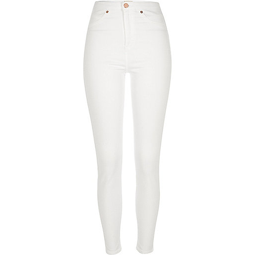 Jegging Molly blanc taille haute