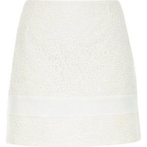 White lace pelmet skirt