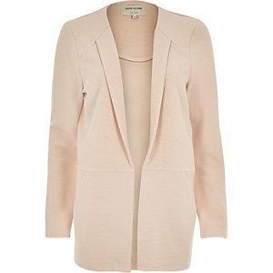 Light pink textured blazer jacket