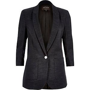 Navy denim tailored jacket