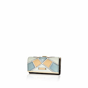 Beige patchwork purse