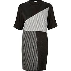 Grey oversized blocked t-shirt