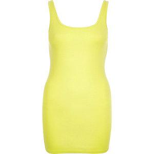 Lime scoop neck longline vest