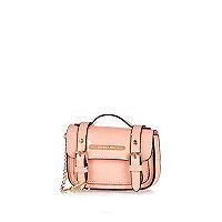 Mini pink satchel keyring