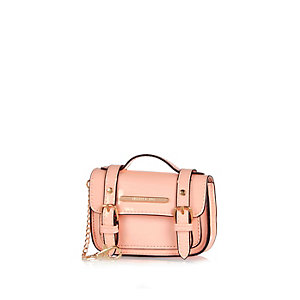 Mini pink satchel keyring