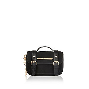 Black mini satchel keyring