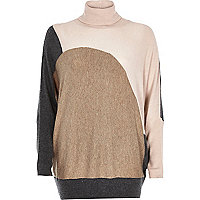 Pink block colour jumper