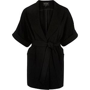 Black belted kimono jacket
