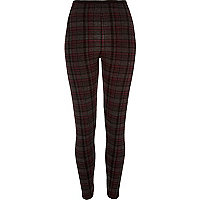 Grey check high waisted leggings