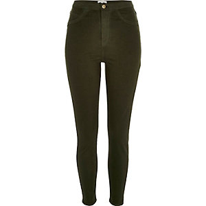 Dark green high rise Molly jeggings