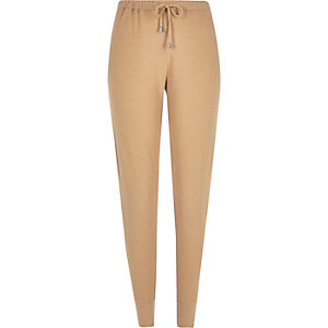 Beige slim super soft joggers