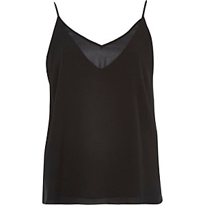 Black V-neck cami
