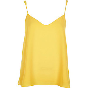 Bright yellow V-neck cami
