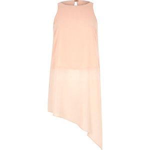 Light pink asymmetric vest