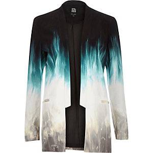 Blue Design Forum faded suit jacket