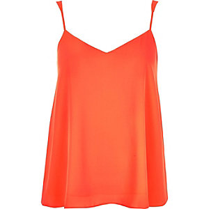 Bright orange V-neck cami