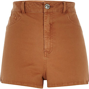 Brown high waisted Nori shorts