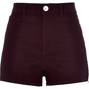 Berry high waisted Nori shorts
