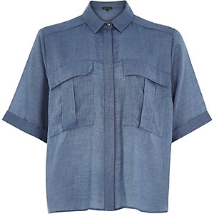 Dark blue boxy shirt