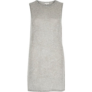 Grey marl sleeveless tabard