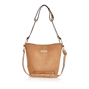 Camel brown slouchy handbag