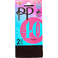 Black Pretty Polly opaque 40 denier tights