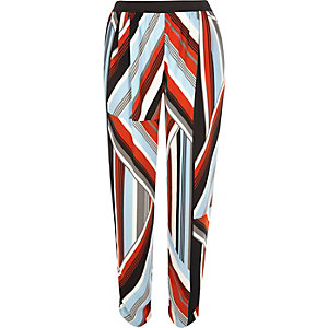 Red stripe lightweight joggers