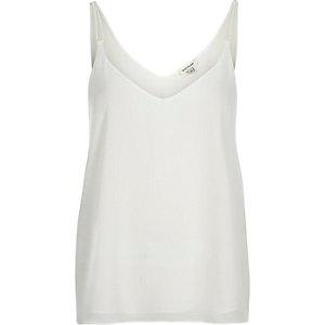 White lightweight double strap vest