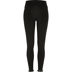Black high waisted denim leggings