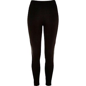 Black lace side panel leggings