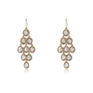 Gold tone teardrop earrings