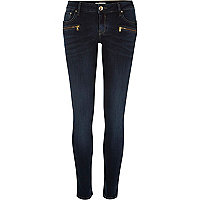 Dark wash low rise Amelie superskinny jeans