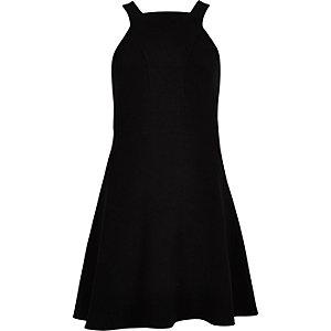 Black strappy skater dress