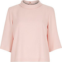 Light pink high neck t-shirt