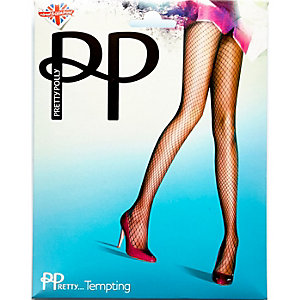 Pretty Polly black fishnet tights