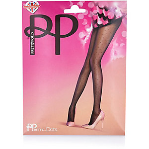Pretty Polly polka dot mesh tights