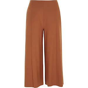 Dark orange jersey culottes