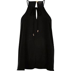 Black bow cami